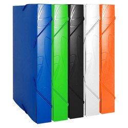 Пластиковая папка-короб на резинке A4 (Бюрократ GALAXY GA520blue) (синий)