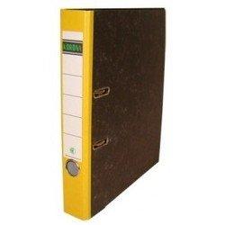 Папка Кorona 55мм (мрамор, желтый корешок)