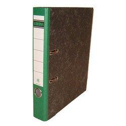 Папка Кorona 75мм (мрамор, зеленый корешок)