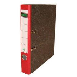 Папка Кorona 75мм (мрамор, красный корешок)