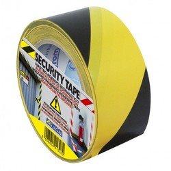 Клейкая лента предупреждающая Syrom 50мм*33м желто-черная