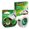 Клейкая лента 3M Scotch Magic - Клейкая лентаКлейкая лента<br>Клейкая лента, канцелярская, цвет ленты - прозрачный, ширина ленты - 19 мм, длина ленты - 33 м, особенности ленты - невидимая.<br>
