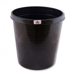 Корзина для бумаг Бюрократ BKP43 18л цельная пластик черный