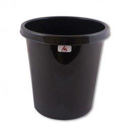 Корзина для бумаг Бюрократ BKP60 9л цельная пластик черный