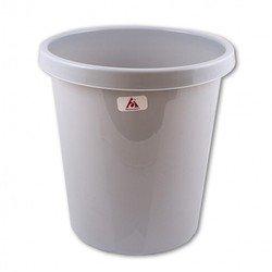 Корзина для бумаг Бюрократ BKP61 9л цельная пластик серый