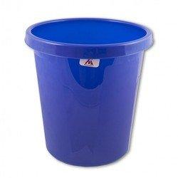Корзина для бумаг Бюрократ BKP62 9л цельная пластик синий