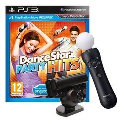 комплект sony playstation 3 игра dancestar party hits (move) + камера ps eye + ps move