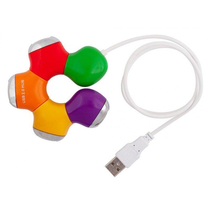 Концентратор USB 2.0 CBR  CH-310 White ,активный 10 портов USB 2.0/220В белые