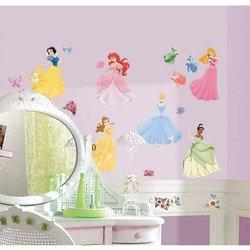 Наклейки RoomMates RMK1470SCS Disney Принцессы с самоцветами