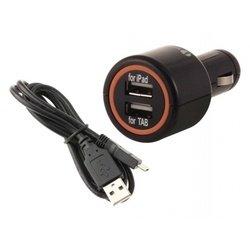 Автомобильное зарядное устройство 1А + кабель microUSB (Interstep IS-CC-MICRO002K-000B201)