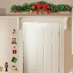 Наклейки RoomMates RMK1202SCS Рождественский венок на дверь