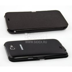 чехол-флип для samsung galaxy note 2 n7100 (flip cover) (черный)