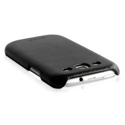 Кожаный чехол-накладка для Samsung Galaxy S3 i9300 (Hoco) (черный)