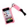 Чехол со шнурком на шею для Apple iPhone 4, 4S (R0000420) (розовый) - Чехол для телефонаЧехлы для мобильных телефонов<br>Плотно облегает корпус и гарантирует надежную защиту от царапин и потертостей.<br>