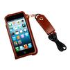 Чехол со шнурком на шею для Apple iPhone 5, 5S, SE (R0000425) (коричневый) - Чехол для телефонаЧехлы для мобильных телефонов<br>Плотно облегает корпус и гарантирует надежную защиту от царапин и потертостей.<br>