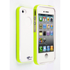 Чехол-накладка для Apple iPhone 4, 4S (CD126309) (белый/зеленый) - Чехол для телефонаЧехлы для мобильных телефонов<br>Плотно облегает корпус и гарантирует надежную защиту от царапин и потертостей.<br>
