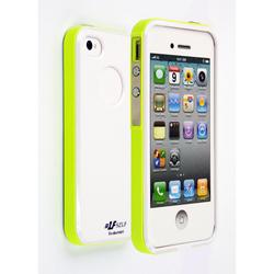 Чехол-накладка для Apple iPhone 4, 4S (CD126309) (белый/зеленый)