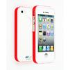 Чехол-накладка для Apple iPhone 4, 4S (CD126307) (белая/оранжевая) - Чехол для телефонаЧехлы для мобильных телефонов<br>Плотно облегает корпус и гарантирует надежную защиту от царапин и потертостей.<br>