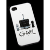 Силиконовый чехол-накладка для Apple iPhone 4, 4S (Сумка Трэш R0002617) (Chanel) - Чехол для телефонаЧехлы для мобильных телефонов<br>Плотно облегает корпус и гарантирует надежную защиту от царапин и потертостей.<br>