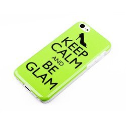 �����-�������� ��� apple iphone 5c (acqua gelly keep calm and be glam 49114) (�������)