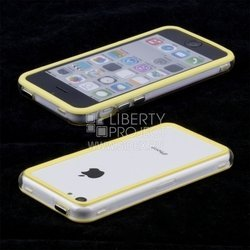 бампер для apple iphone 5c (acqua 49011) (желтый)