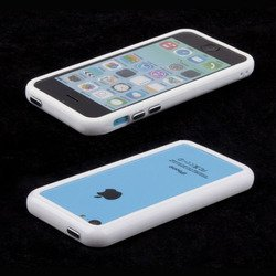 бампер для apple iphone 5c (acqua 49013) (белый)
