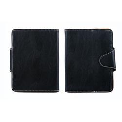 """Универсальный кожаный чехол-книжка для планшетов 6"""" (SM001582) (черный)"""