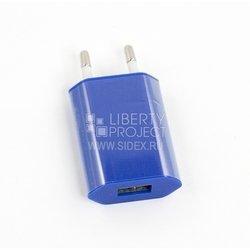 Сетевое зарядное устройство USB (SM000324) (синий)