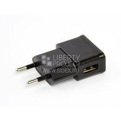 Сетевое зарядное устройство USB (SM000379) (черный)