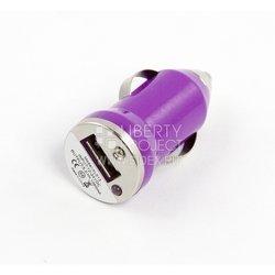 Автомобильное зарядное устройство USB (SM000128) (сиреневый)