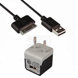 Сетевое зарядное устройство USB + дата-кабель Apple 30-pin (Griffin SM000064) (черный)