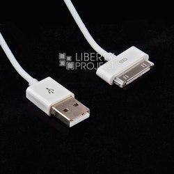 Автомобильное зарядное устройство USB + кабель для Apple 30-pin (CD121619) (белый)