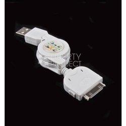Автомобильное и сетевое зарядное устройство USB + дата-кабель для Apple 30-pin (CD020780) (белый)