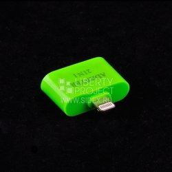 Переходник Apple Lightning - 30 pin/micro USB от iPhone 2, 3G, 3GS, 4, 4S на iPhone 5, 5C, 5S, 6, 6 plus, iPad 4, Air, Air 2, mini 1, mini 2, mini 3 (зеленый)