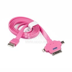 ����-������ usb 3 � 1 (micro usb/apple 30pin/apple 8pin/led ���������) (r0000720) (�������)