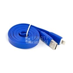 Дата-кабель Lightning - USB для Apple iPhone 5, 5C, 5S, 6, 6 plus, iPad 4, Air, Air 2, mini 1, mini 2, mini 3 (SM000103) (синий)