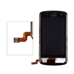 Тачскрин для Nokia C6-01 с рамкой крепления (черный) 1-я категория