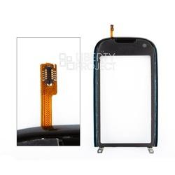 Тачскрин для Nokia C7 в сборе с рамкой (черный) 1-я категория