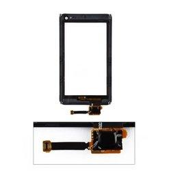 Тачскрин для Nokia N8 в рамке (черный) 1-я категория