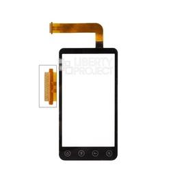 Тачскрин для HTC Evo 3D (черный) 1-я категория