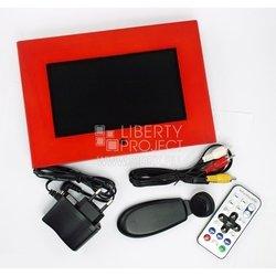 Цифровая фоторамка  7 DPF-703A (480х234) (красное дерево)16:9/USB/SD/Аудио/Видео/Встроенная память