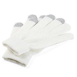 Перчатки для сенсорных экранов (3 пальца, размер M) (R0000496) (белый)