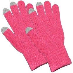 Перчатки для сенсорных экранов (3 пальца, размер M) (CD125829) (светло-розовый)