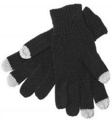 Перчатки для сенсорных экранов (3 пальца, размер M) (CD125826) (черный)