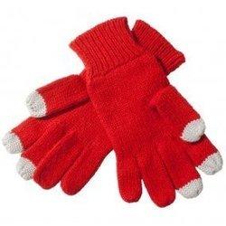 Перчатки для сенсорных экранов (3 пальца, размер M) (R0001011) (красный)