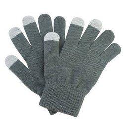 Перчатки для сенсорных экранов (3 пальца, размер M) (R0001010) (серый)