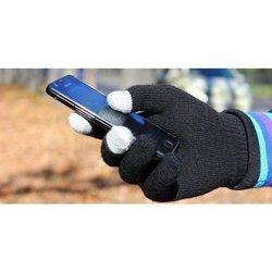 Перчатки для сенсорных экранов (3 пальца, размер M) (R0001009) (черный)
