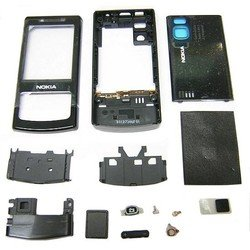 корпус для nokia 6500 slide (cd002048) (черный)