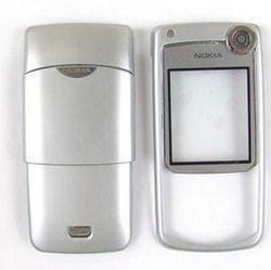 Корпус для Nokia 6680 (CD000471) (серебристый)