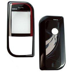 Корпус для Nokia 7610 без средней части (CD000268) (черный/красный)